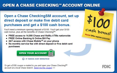 Chase coupon direct deposit 2018