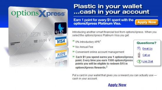 optionsxpress platinum visa credit card 0 apr bt 12 month banking deals. Black Bedroom Furniture Sets. Home Design Ideas