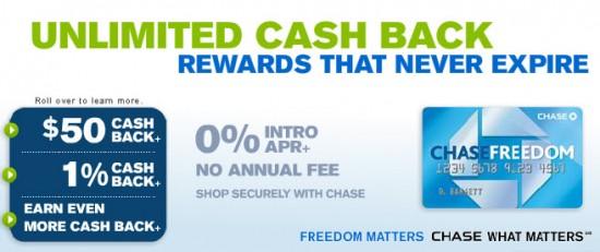 chase freedom credit card 50 cash back with 0 apr banking deals. Black Bedroom Furniture Sets. Home Design Ideas