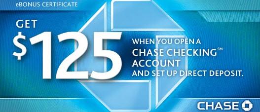 Chase savings account coupon 125