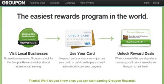 Groupon Rewards - Banking Deals